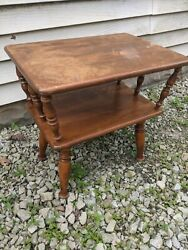 Tables By Baumritter New York [end Table / Side Table] Maple Colonial Style