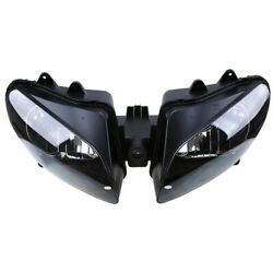 Fit For Yamaha Yzf R1 2000 2001 Black Motorcycle Headlight Housing Clear Lens