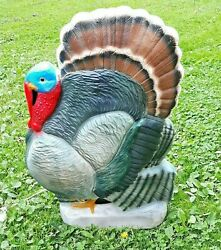 Thanksgiving Union Don Featherstone Plastic Blow Mold Tom Turkey Lighted Yard