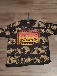 Vintage 90s The Lion King All Over Print Single Stitched OSFA Large $150.00