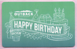 Outback Steakhouse No Value Gift Card - Happy Birthday
