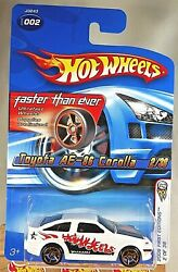 2006 Hot Wheels Faster Than Ever 2 First Editions Toyota Ae-86 Corolla White