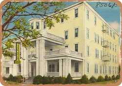 Metal Sign - New Jersey Postcard - Del Monte Hotel, 302 First Avenue, Asbury Pa