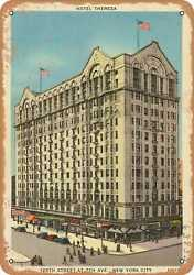 Metal Sign - New York Postcard - Hotel Theresa 125th Street At 7th Ave. New Y