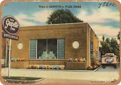 Metal Sign - Texas Postcard - Home Of Grapette In Tyler Texas .