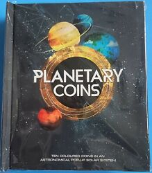 2017 Austrailian Mint- Planetary Coin Collection Complete Set In Pop-up Book