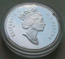 Vintage Canada 1 1997 10 Years Mint Collectible Coins Dollar Rare Silver 0.925