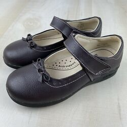 Pediped Flex Isabella Chocolate Brown Leather Girls Size 13 13.5 Maryjane Shoes $30.00