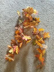 Artificial Autumn Fall Leaves Garland Wall Plants Hanging Home Decor 4.5#x27;