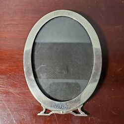 Circa 1905 Sterling Silver Oval Picture Frame W/ Original Glass 44g