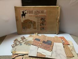 Vintage Fort Apache Fighting Fort 1875 W/box And Teepee By Marx 1967 Rare