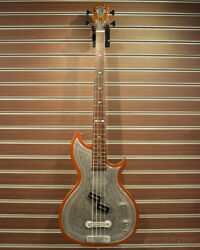 Used Zemaitis B22mt Dcp Natural Mij Electric Bass Metal Front Duncan Spb-3 Pu