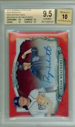 Ryan Weathers 2018 Bowman Sterling Red Refractor Auto And039d 1/5 Bgs 9.5 Gem Mint