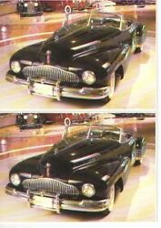 1938 Buick Y-job Convertibe Concept Car Postcard - Lot Of 2 - Must See
