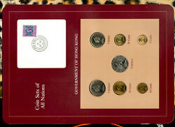 Coin Sets Of All Nations Hong Kong W/card 1979-1983 Unc 12 1980 5 1982