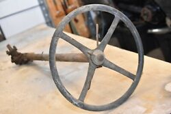Antique Oem Model A Ford Gemmer Steering Column And Steering Wheel Button B4