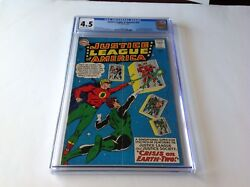 Justice League Of America 22 Cgc 4.5 Justice Society Black Canary Dc Comics