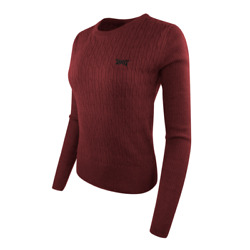Pxg Womenand039s Cable Knit Crew Neck Sweater