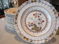 2 Spode Cowslip Dinner Plates 10andfrac12 Earthenware S713 Copeland England - Last Two
