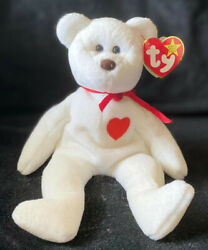 Rare, Retired Ty Beanie Baby Valentino With Brown Nose, Mismatched Tags