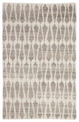 Jaipur Living Sabot Hand-knotted Geometric Ivory/ Light Gray Area Rug 5and039x8and039