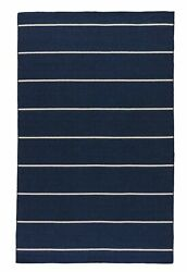 Jaipur Living Cape Cod Handmade Stripe Blue/ White Area Rug 12and039x15and039