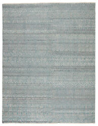 Jaipur Living Kora Hand-knotted Trellis Blue/ Gray Area Rug 5and039x8and039