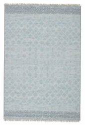 Jaipur Living Ravi Indoor/ Outdoor Border Light Blue/ Gray Area Rug 8and0399x12and0395