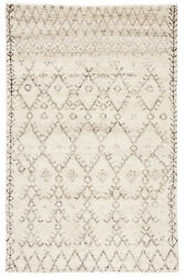 Jaipur Living Zola Hand-knotted Geometric Ivory/ Brown Area Rug 9and039x12and039