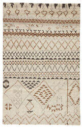 Jaipur Living Zamunda Hand-knotted Geometric Cream/ Brown Area Rug 8and039x10and039