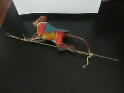 Vintage Tin Toy Lindstrom Bill Climbing Monkey On String Usa 1930and039s