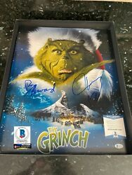 Jim Carrey Signed 16x20 Photo And Signed By Ron Howard Bas Coa