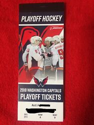Washington Capitals 2018 Playoff Ticket Booklet With All 16 Game Ticket Stubs