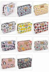 Cute Travel Makeup Pouch Cartoon Printed Toiletry Cosmetic Floral Size No $12.96