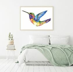 Humming Bird Abstract Painting Print Premium Poster High Quality Choose Sizes