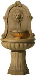 Roman Outdoor Wall Water Fountain With Light Led 58 Lion's Head Yard Garden