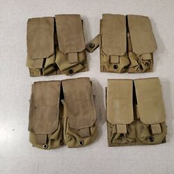 Lot Of 4 Double/double Quad Mag Pouches Eagle Industries Molle Coyote R19b