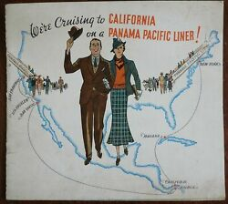 Panama Pacific Ocean Liner Travel And Tourism C. 1940's Advertising Booklet