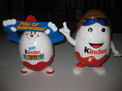 Kinder Pilot And Surprise Egg Storage - Lot Of 2 - Approx 10 Tall Plastic