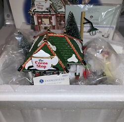 Department 56 The Cocoa Stop Snow Village Lighted House Christmas Shop Set New