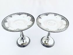 2 Gorham Sterling Silver Weighted Compotes In The A20246 Cinderella Pattern