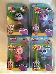 Lot Of 4 Fingerlings Interactive Toys Archie, Polly, Beanie, And Drew. By Wowwee