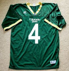 4 David Anderson Colorado State Rams L/xl Russell Athletic Football Jersey