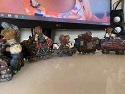 Boyds Bears And Friends 9-car Christmas Train Set Holiday Express 1st Edition Rare