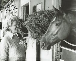 Penny Chenery Signed 8.5 X 11 Photo Signed Reprint Horse Racing Secretariat