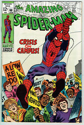 Amazing Spiderman 68 Vf-/7.5 - Very Solid Crisis On Campus Issue