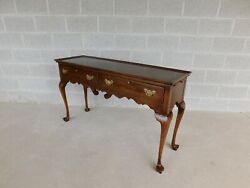 Statton Queen Anne Style 2 Drawer Console Table
