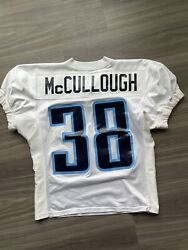 George Mccullough Game Used Worn Jersey Tennessee Titans Practice