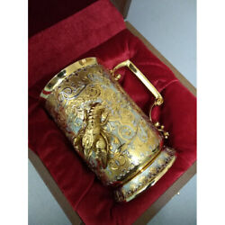 A Beer Mug In Gold. A Gift For A Beer Lover. Luxury Collectible Birthday Gift,