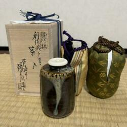 Tea Caddy Ceremony Zeze Chaire Pottery Container Japanese Traditional C-34